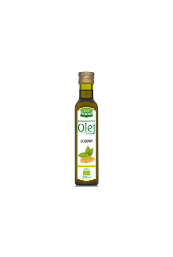 Organic soya bean oil  100% 250ml / Olej sojowy ekologiczny 100% 250ml (qnt in box 12)  /LOOK FOOD