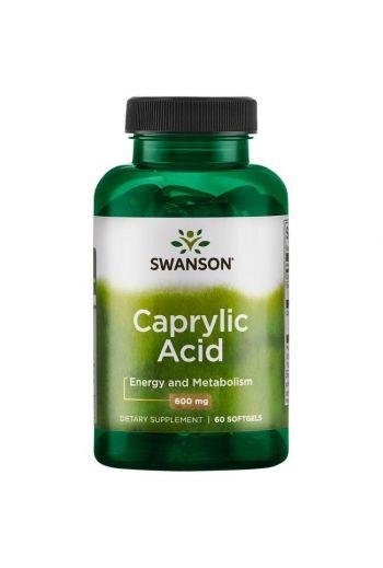 Caprylic Acid 600mg 60 capsules / Swanson
