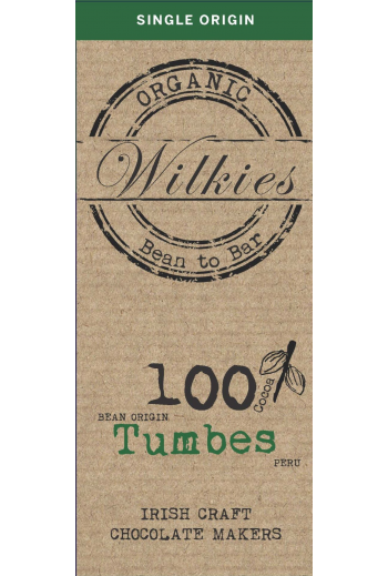 Organic Tumbes 65g chocolate bar 100%