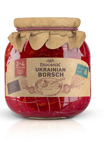 Ukrainian borscht soup 720ml / Zupa barszcz ukrainski 720ml ( qty in box 8)/ DWOREK