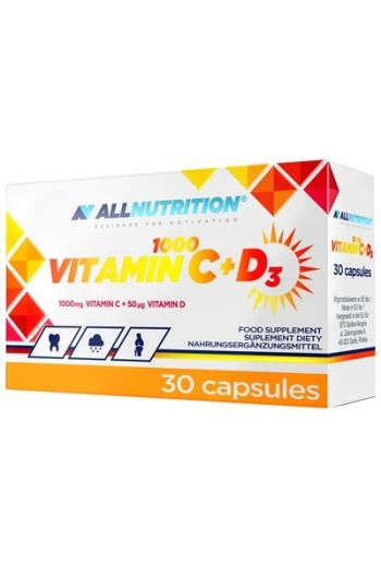 Vitamin C+D3 1000, 30 Caps / AN