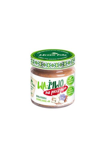 White bean paste with flaxseed 180g / Pasta z bialej fasoli z siemieniem lnianym 180g