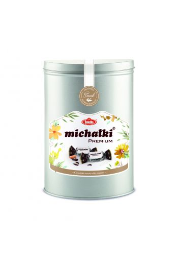 Michałki Premium w puszce 290g / Chocolate sweets with peanuts Premium edition - in the can 290g