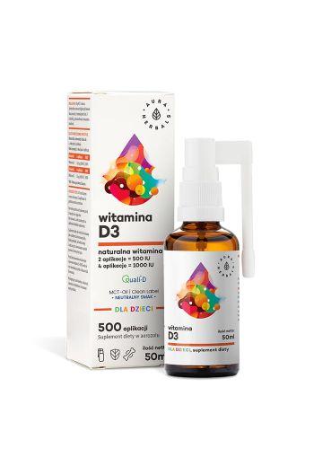 Vitamin D3 For Kids 50ml /Witamina D3 Dla dzieci 50ml Aura Herbals
