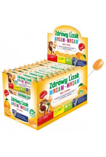 HEALTHY LOLLIPOP  WITH VITAMINS- ORANGE (40 LOLLIPOPS) / ZDROWY LIZAK Z WITAMINAMI O SMAKU POMARAŃCZOWYM ( 40 LIZAKÓW)