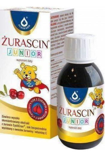 Oleofarm Zurascin Junior Syrup With Vit C And Cranberry Extract 100ml / Junior Syrop Z Witamina C i Ekstraktem Z Zurawiny