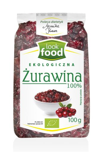 Organic dried cranberry 100% 100g / Żurawina ekologiczna 100% 100g (qnt in box7)  /LOOK FOOD